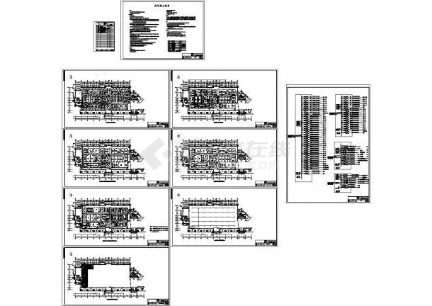 干细胞净化实验室暖通、电气全套CAD方案图纸-图一
