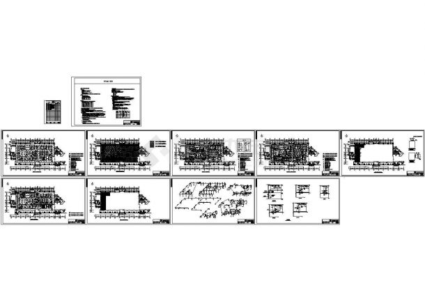 干细胞净化实验室暖通、电气全套CAD方案图纸-图二