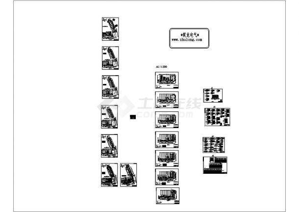 [广东]110000㎡五层高级大酒店强电系统图纸(CAD,20张图纸)-图一
