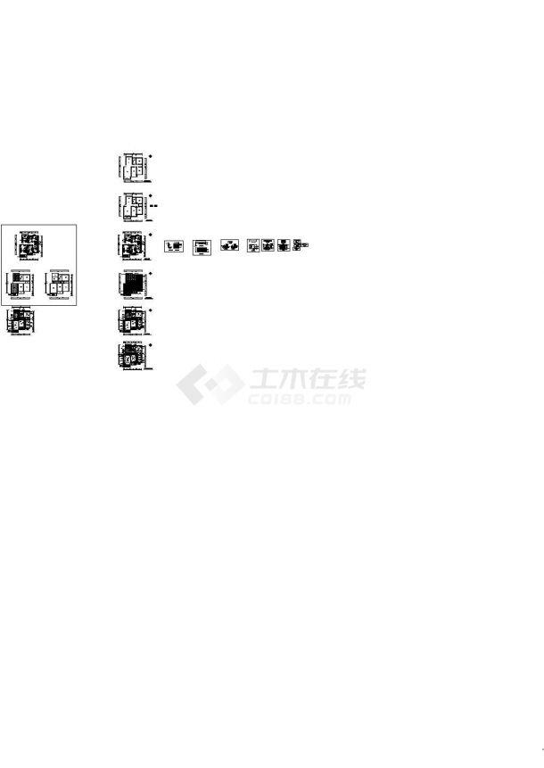 某现代红色调别墅室内装修设计cad全套施工图附效果图(甲级院设计)-图一
