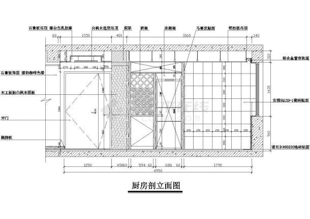 某现代风格四室二厅住宅室内装修设计cad全套施工图(含实景图)-图一