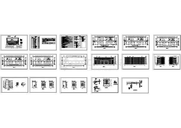 某地创业园区五层办公楼建筑设计施工图(含设计说明)-图一
