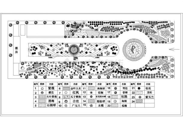 某工业园绿化种植平面图.-图一