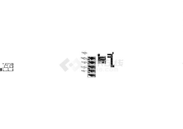 [海南]4层钢混框架结构办公楼全套施工cad图,共二十六张-图二