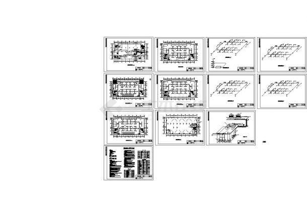 四层小型商场空调系统设计cad施工图(水冷活塞式冷水机组)-图一