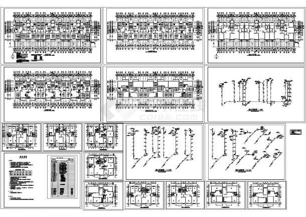 住宅采暖给排水施工图(CAD,9张图)-图一