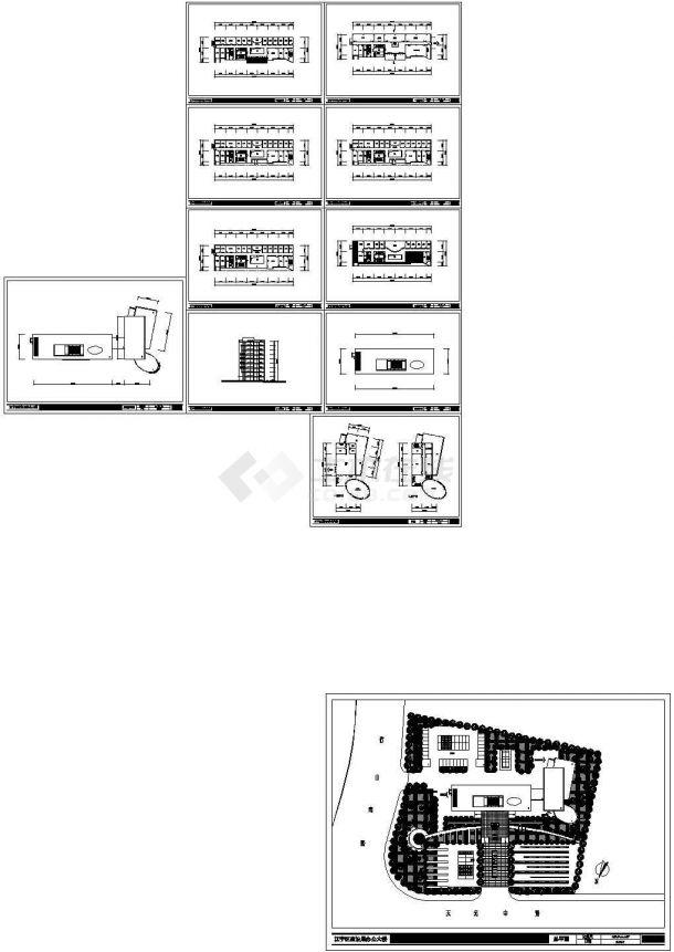 某建设局小高层框架结构办公楼设计cad全套建筑施工图(含word版详细设计说明)-图二