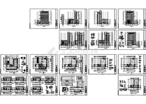 某区国土资源局办公楼(地上十二层,框架结构)设计cad全套建筑施工图(含设计说明)-图一