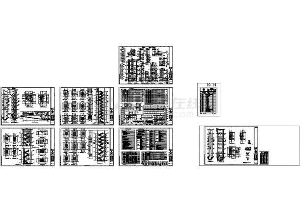 某区国土资源局办公楼(地上十二层,框架结构)设计cad全套建筑施工图(含设计说明)-图二