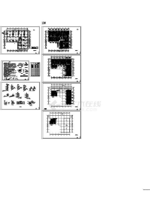 某商业街地暖cad图(含采暖设计说明,系统图)-图一
