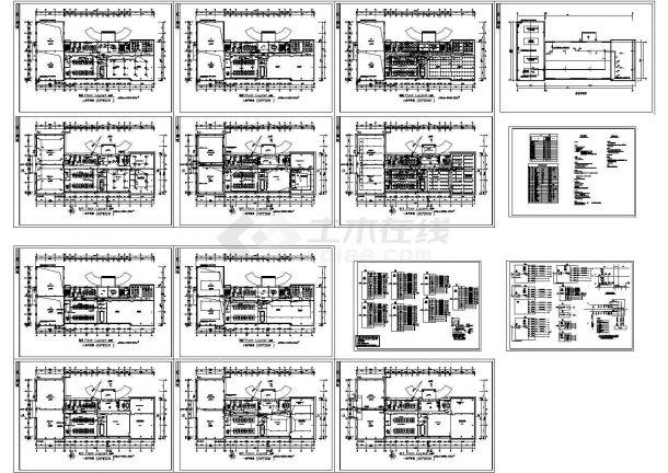某美企办公楼全套电气设计cad施工图纸(含设计说明,甲级设计院设计)-图一