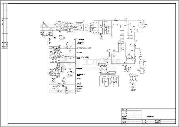 焊管高频电气原理图-图一