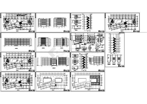 某6层教学楼建筑设计方案图纸-图一