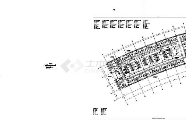 启东市某地档案馆建筑结构水暖电施工全套图纸(含强电、弱电系统图)-图一