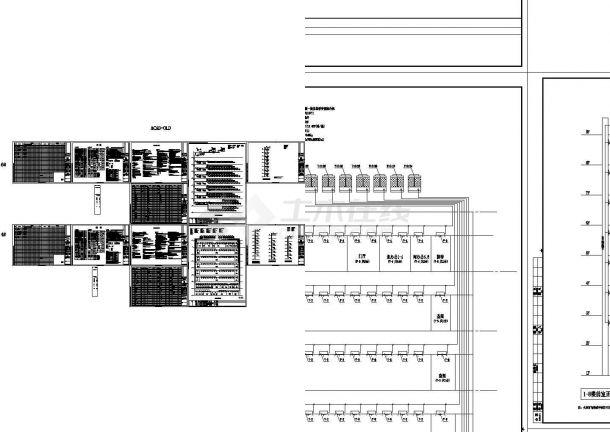 启东市某地档案馆建筑结构水暖电施工全套图纸(含强电、弱电系统图)-图二