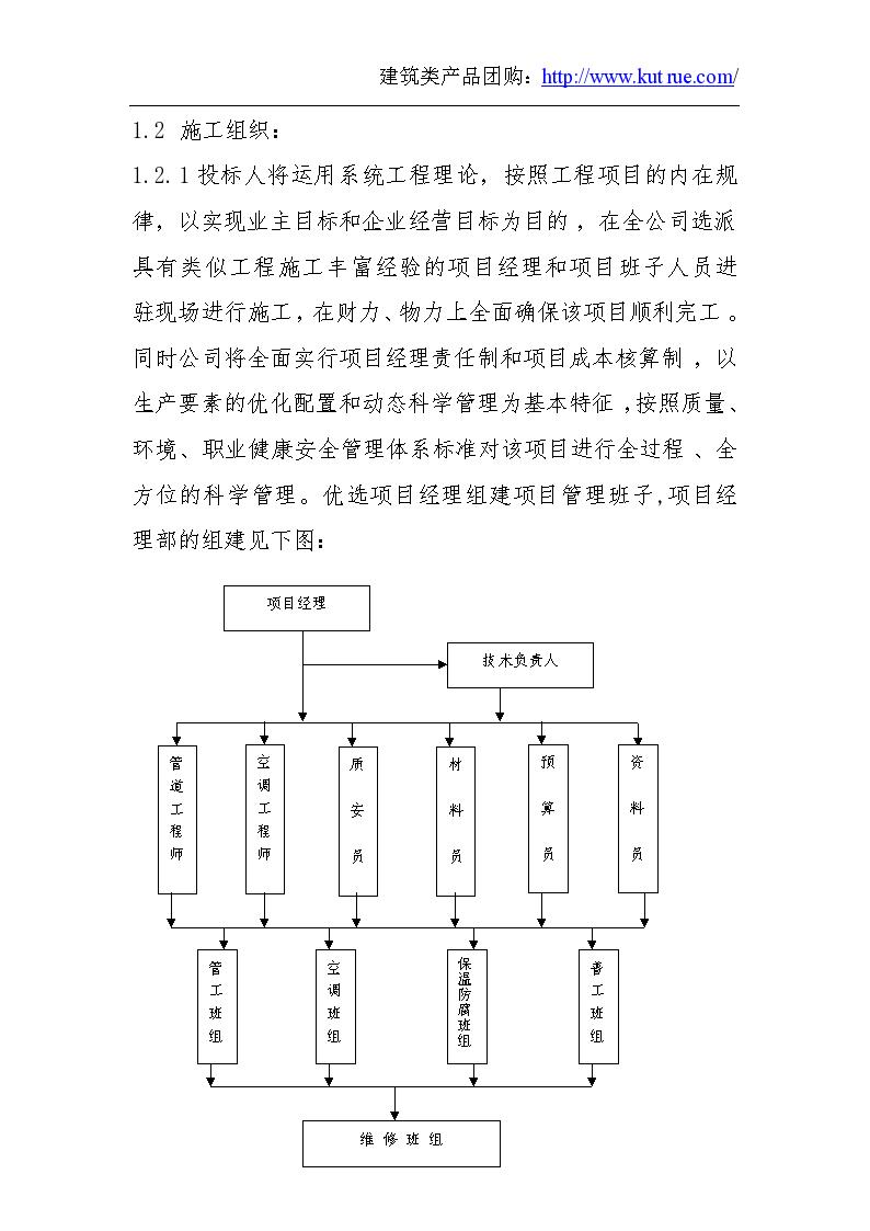东江明珠大酒店暖通施工组织设计-图二