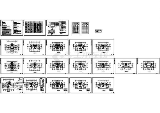某四层豪华住宅楼电气施工cad图,共二十一张-图一