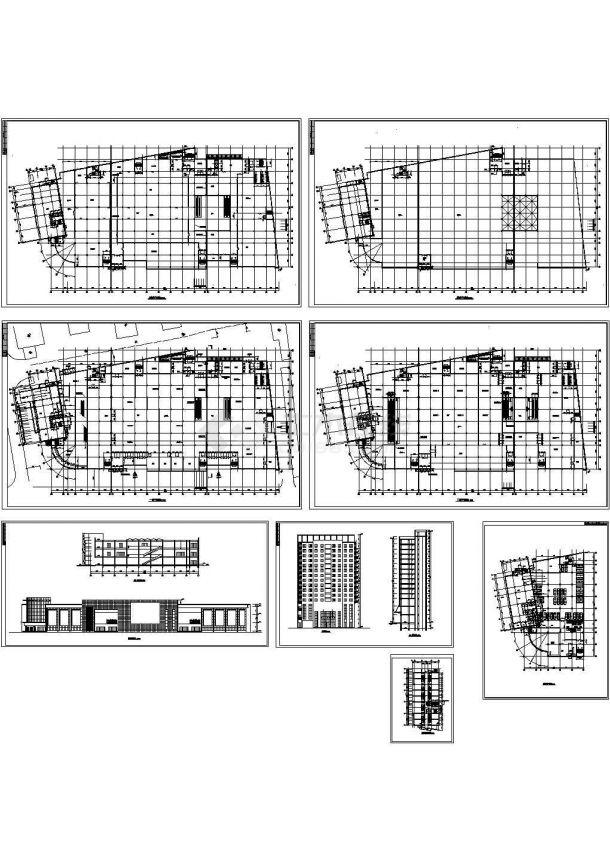 某地区3层大型商场建筑设计CAD方案图(含地下室设计)-图一