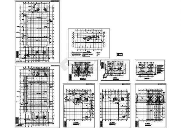 三层住宅电气施工cad图,共九张-图一