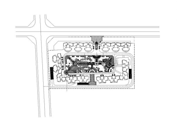 某广场景观CAD详细设计施工图-图一
