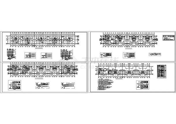 六层住宅楼照明系统设计施工cad图(含地下一层,共四张)-图一