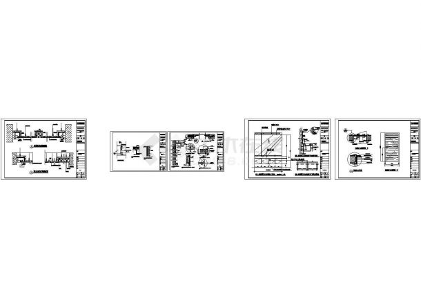各种不同类型石材干挂节点大样构造图-图二