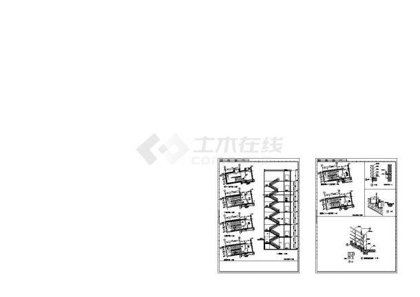 多层双折混凝土楼梯图纸(共7套图纸)-图一