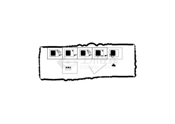万科西城配套防空地下室全套施工图(建筑结构水暖电)-图二