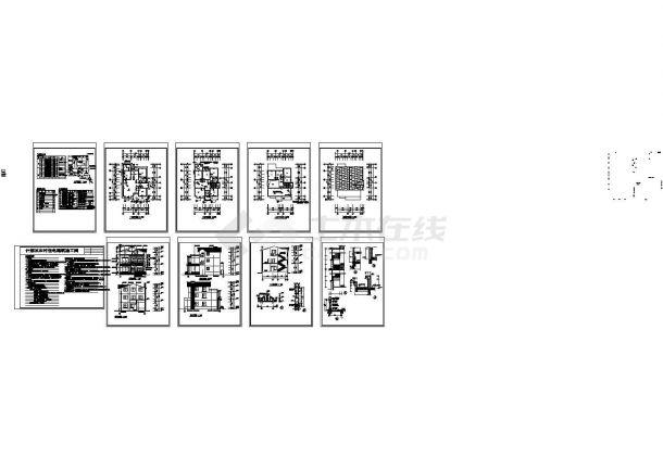 什邡某农村3层住宅建筑设计CAD方案图(含屋顶设计)-图一
