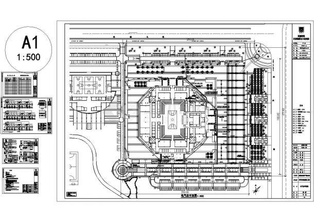 某小区室外广场照明系统设计cad图,共五张-图一