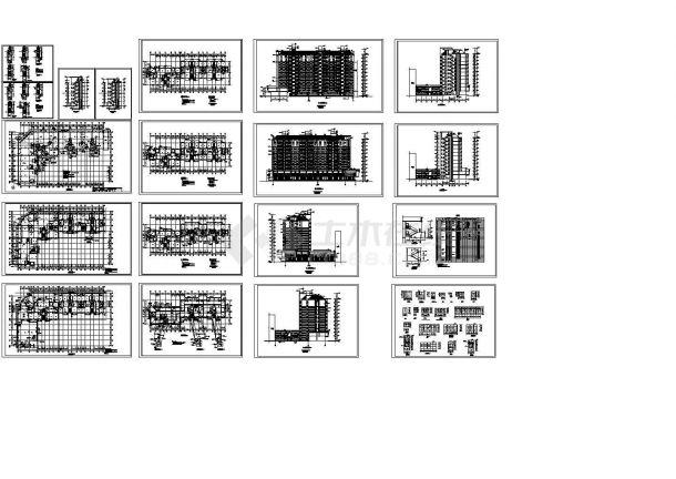 十一层小高住宅楼建筑设计CAD方案图(含楼梯设计)-图一