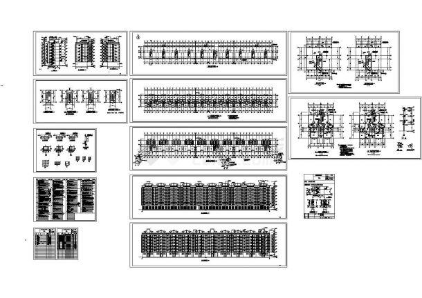 华侨新村七层住宅建筑设计CAD方案图(含楼梯设计)-图一