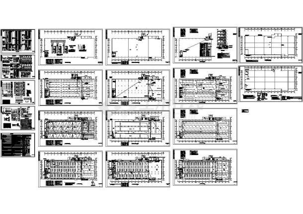重型注塑厂房电气施工图-图一