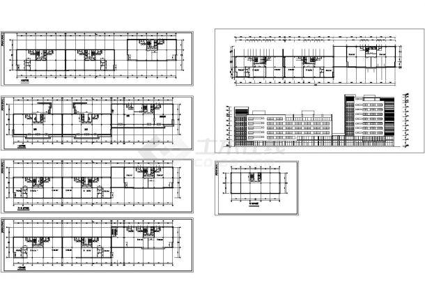 6层小区商住楼建筑设计CAD图纸(含地下室设计)-图一
