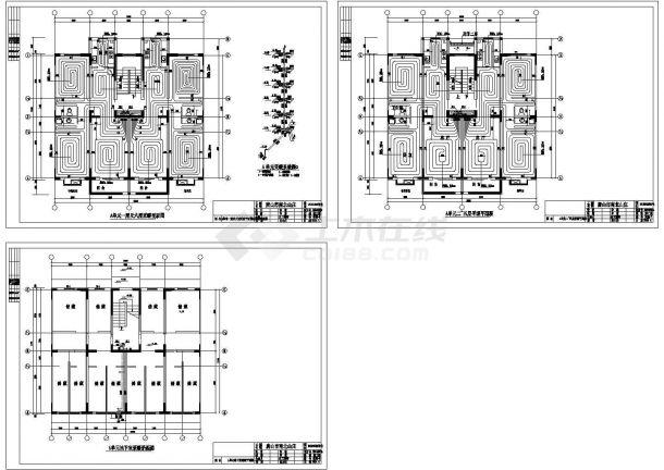 北方某多层住宅楼地暖系统设计cad施工图(甲级院设计)-图一