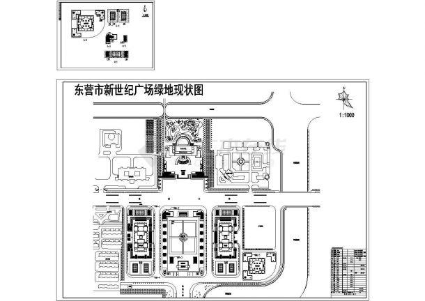 山东东营市政广场绿化图-图一