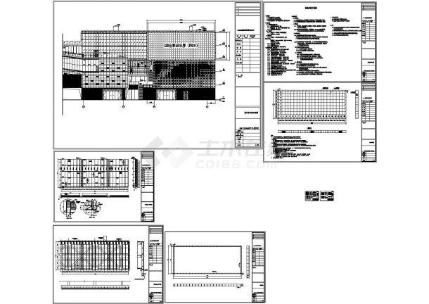广场LED广告牌结构设计图-图一