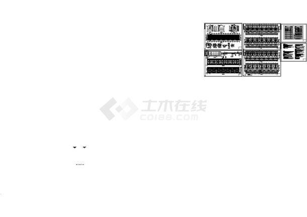 3300平米3层框架结构建筑设计CAD施工图-图一