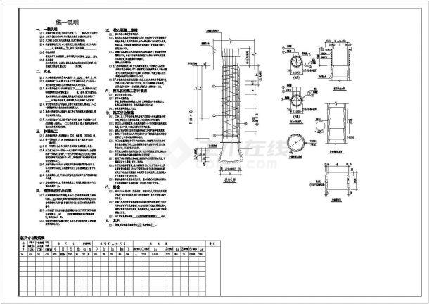 人工挖孔灌注桩节点构造详图-图二