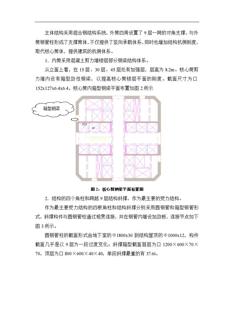 广州某超高层(第二高楼)建筑钢结构工程施工组织设计(斜撑框架+混凝土核心筒结构),建筑面积约16.1万平方米-图二