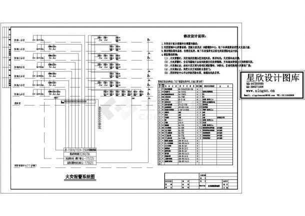 地下车库火灾报警系统图(cad,2张图纸)-图一
