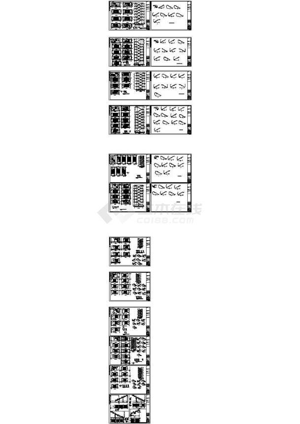 多座住宅楼混凝土楼梯设计详图-图一