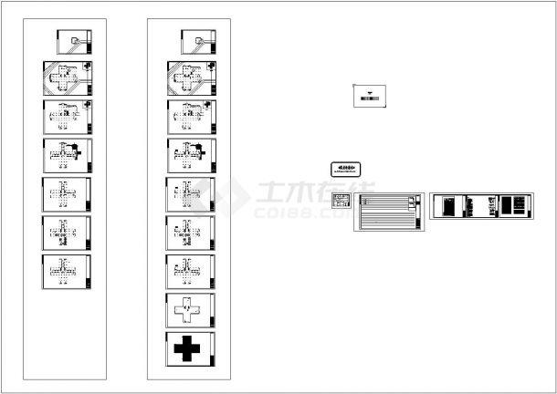 重庆某七层儿童医院综合楼给排水施工cad图纸-图一