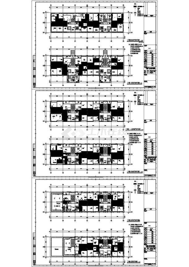[上海]某八层酒店式公寓建筑施工图-图一