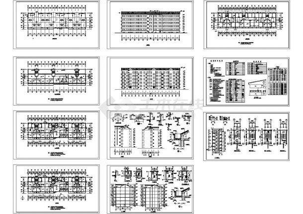 某5层公寓住宅楼建筑设计CAD施工图(含地下室设计)-图一