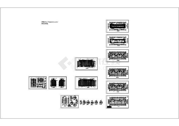 六层三单元阁楼4264平米不对称户型设计施工图-图一