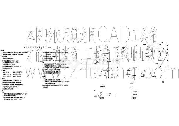 某双面型户外广告牌结构cad详细设计图-图二
