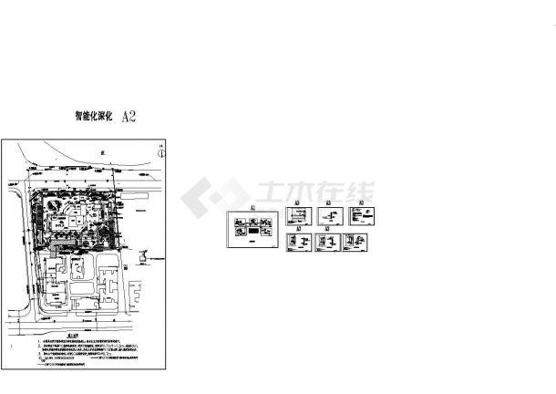 医院停车场管理系统电气设计施工cad图纸,共八张-图一