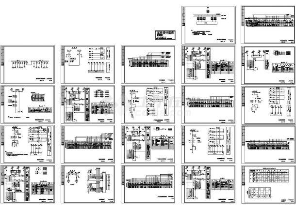 10kV变电所标准设计CAD图-图一