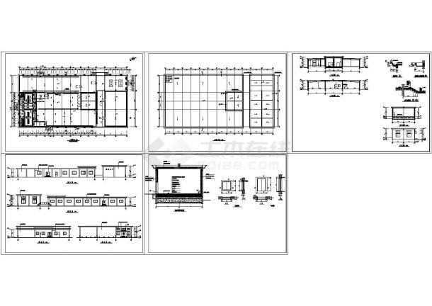 某地区冷库建筑设计施工CAD全套图纸-图一